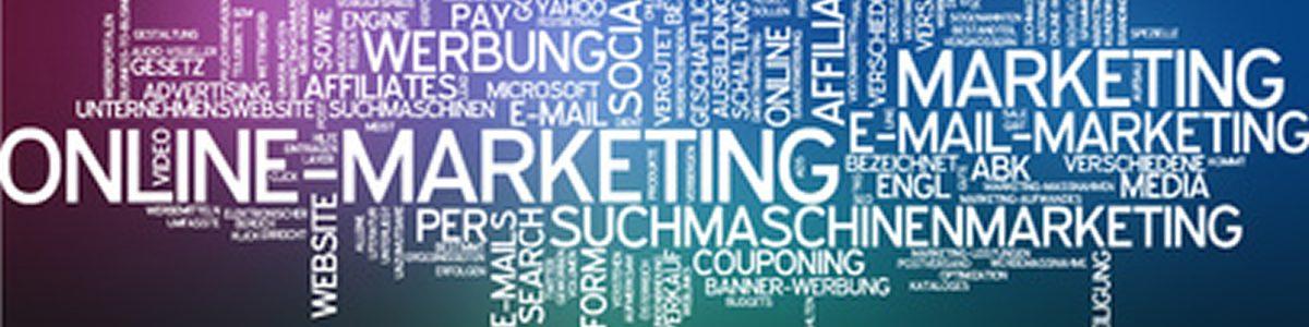Grafik mit Begriffen aus dem Online Marketing
